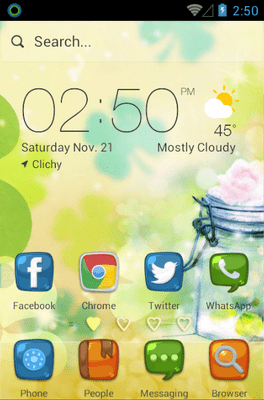 Love Heart Hola Launcher Android Theme Image 1