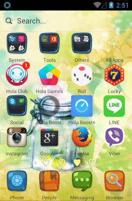 Love Heart Hola Launcher Android Theme Image 2