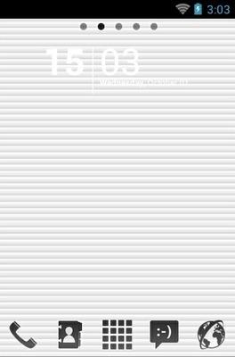 Monochromacy White Go Launcher Android Theme Image 1