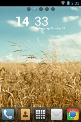 Golden Field Go Launcher Android Theme Image 1