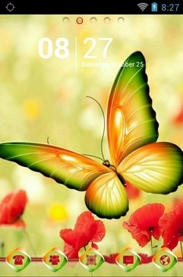 Beautiful Butterfly Go Launcher Android Theme Image 1