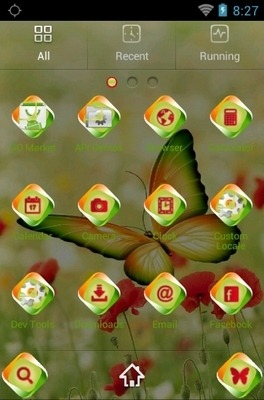 Beautiful Butterfly Go Launcher Android Theme Image 2