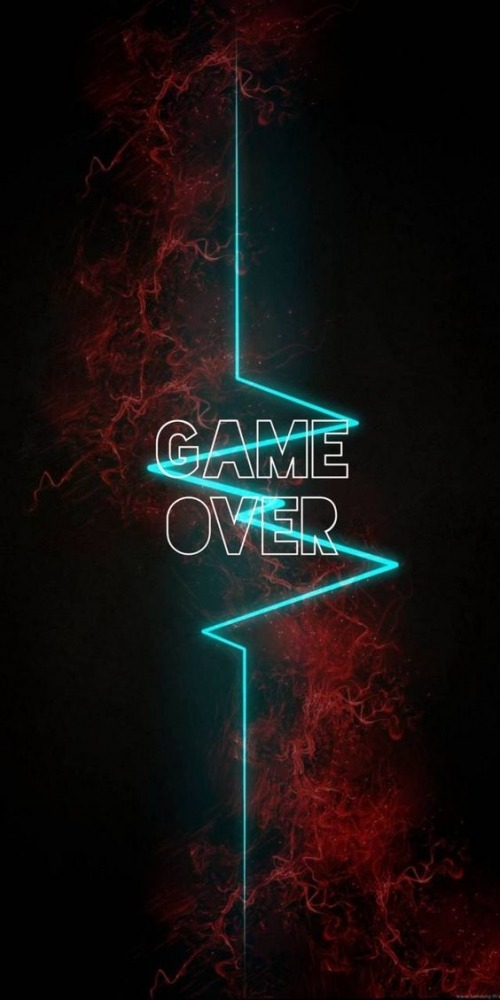 Game Over Mobile Phone Wallpaper Image 1