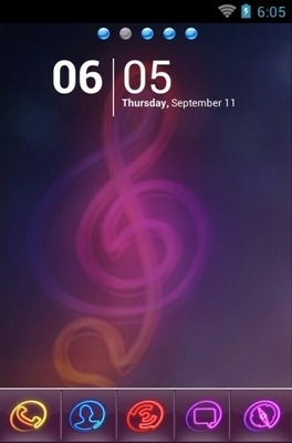 Colorlight Go Launcher Android Theme Image 1
