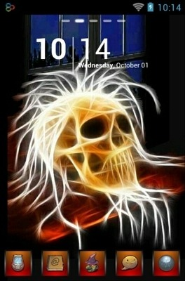 Neon Skull Go Launcher Android Theme Image 1