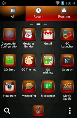 Neon Skull Go Launcher Android Theme Image 2
