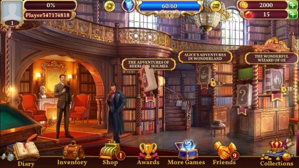 Sherlock: Hidden Match-3 Cases Android Game Image 1
