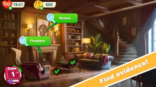 Jane's Detective Stories: Mystery Crime Match 3 Android Game Image 2