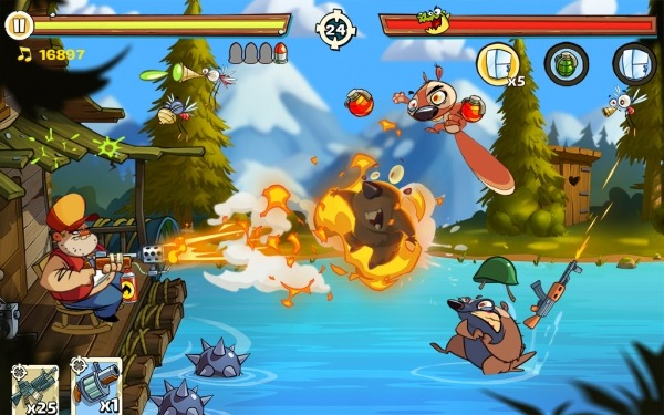 Swamp Attack 2 Android Game Image 3