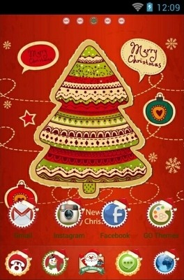 Christmas Tree Go Launcher Android Theme Image 1