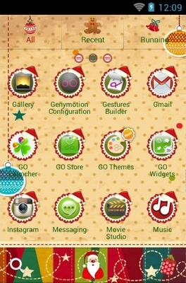 Christmas Tree Go Launcher Android Theme Image 2