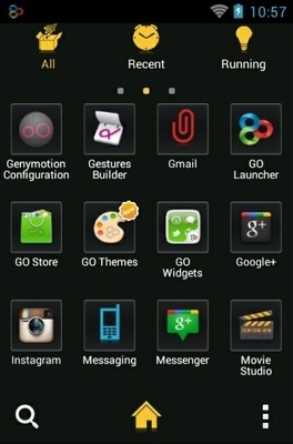 Tron Go Launcher Android Theme Image 2