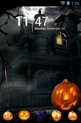 Happy Halloween Night Go Launcher Android Theme Image 1
