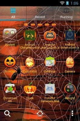 Happy Halloween Night Go Launcher Android Theme Image 2