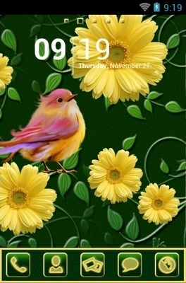 Spring Go Launcher Android Theme Image 1
