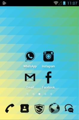 3K MNML Black Go Launcher Android Theme Image 1