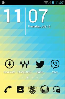3K MNML Black Go Launcher Android Theme Image 2