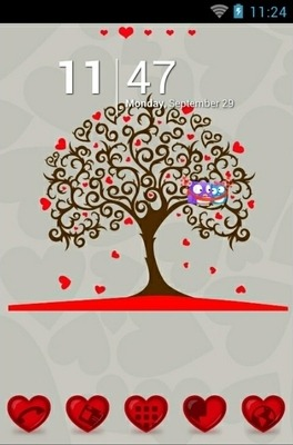 Tree Of Hearts Go Launcher Android Theme Image 1