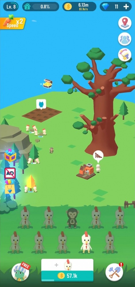 Idle Island: Build And Survive Android Game Image 3