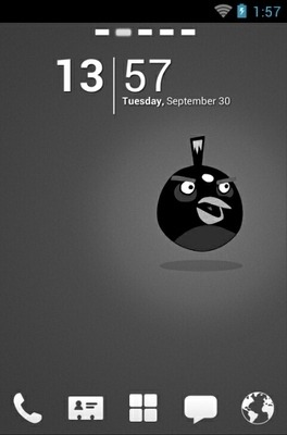 Angry Birds Black Go Launcher Android Theme Image 1