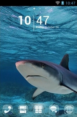 Shark Go Launcher Android Theme Image 1