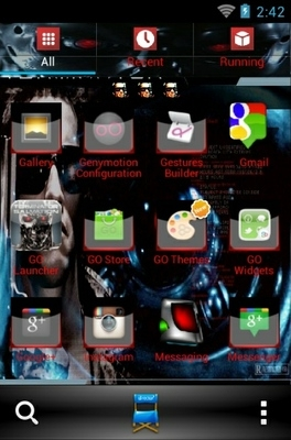 Terminator Go Launcher Android Theme Image 2