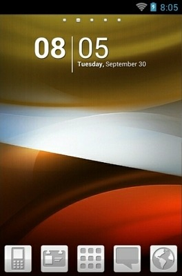 Abstract Dream Go Launcher Android Theme Image 1