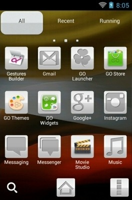 Abstract Dream Go Launcher Android Theme Image 2