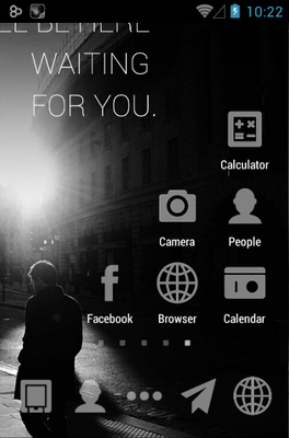 Waiting For U Go Launcher Android Theme Image 1
