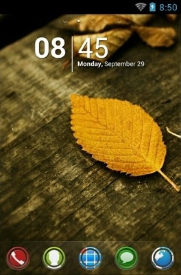HD Leaves Go Launcher Android Theme Image 1