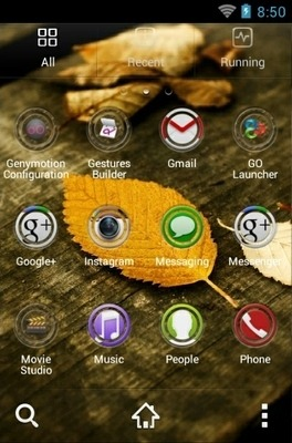 HD Leaves Go Launcher Android Theme Image 2