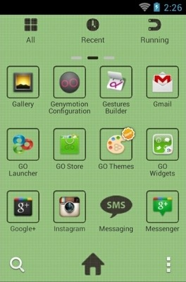 Retro Android Go Launcher Android Theme Image 2