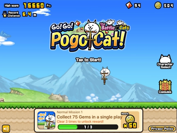 Go! Go! Pogo Cat Android Game Image 1