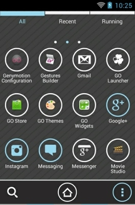 Cassandra Icy Blue Go Launcher Android Theme Image 2