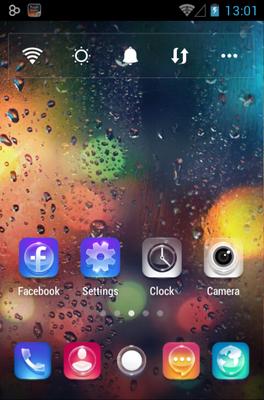 Night Rain Go Launcher Android Theme Image 2