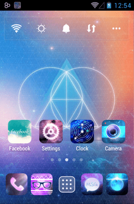 Galaxy Go Launcher Android Theme Image 1