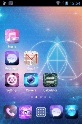 Galaxy Go Launcher Android Theme Image 2