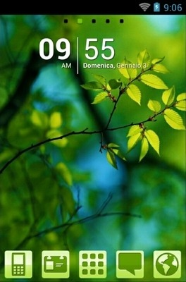 Green Nature Go Launcher Android Theme Image 1