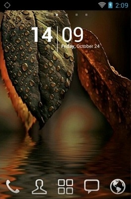Water Leaf Go Launcher Android Theme Image 1