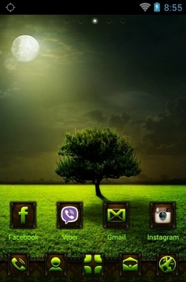Moonlight Go Launcher Android Theme Image 1