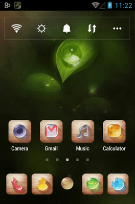 Dewdrop Go Launcher Android Theme Image 1