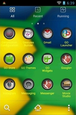 Brazil Style Go Launcher Android Theme Image 2