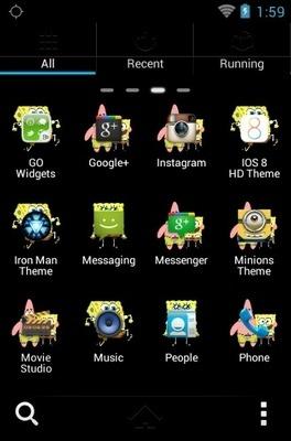 Spongebob Squarepants Go Launcher Android Theme Image 2