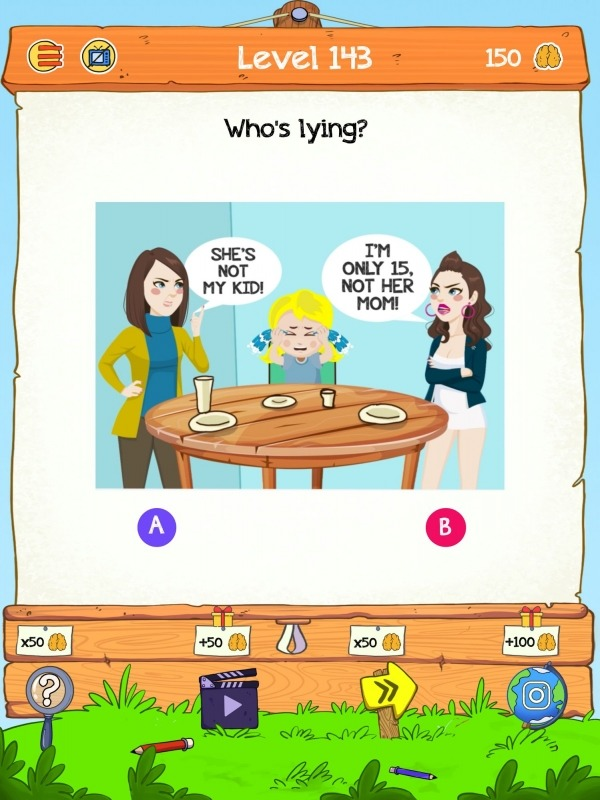 Braindom 2: Who Is Lying? Fun Brain Teaser Riddles Android Game Image 2