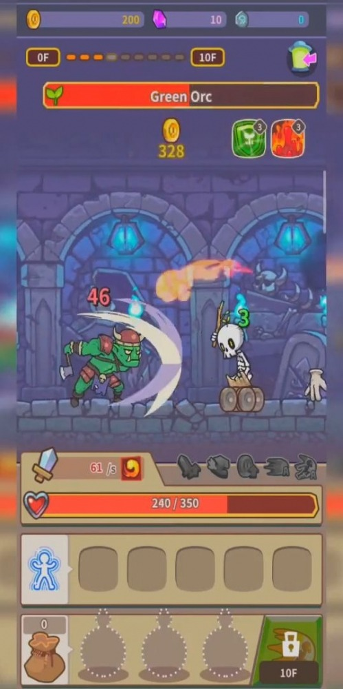 Hybrid Warrior : Dungeon Of The Overlord Android Game Image 1