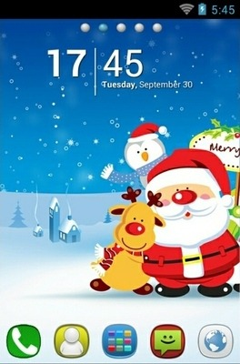 Xmas Go Launcher Android Theme Image 1