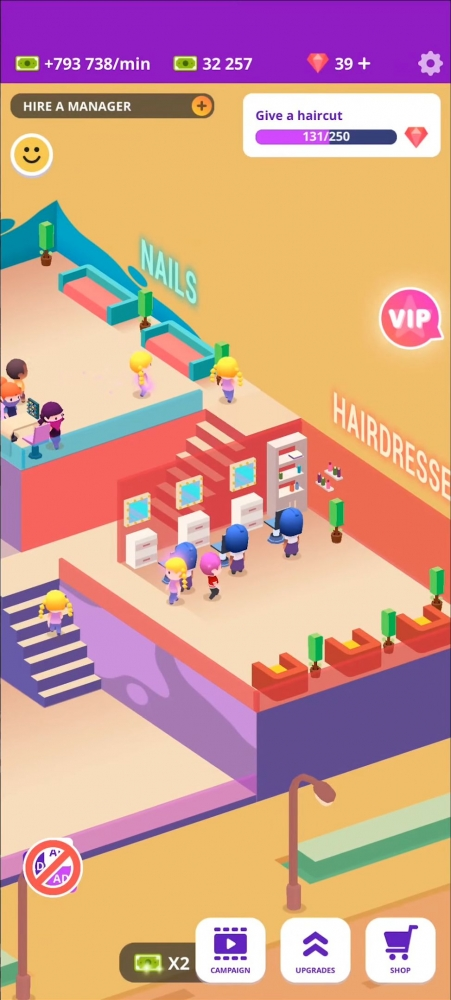 Idle Beauty Salon: Hair And Nails Parlor Simulator Android Game Image 2