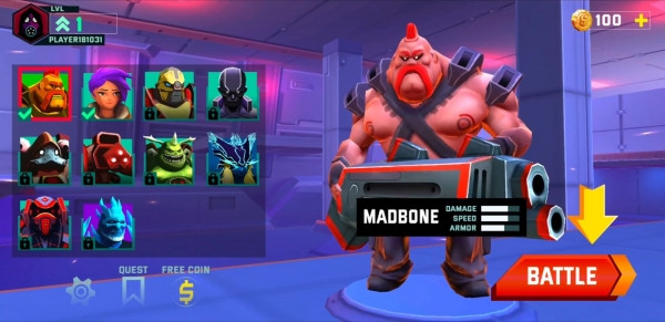 Mad Heroes - Battle Royale Hero Shooter Android Game Image 1