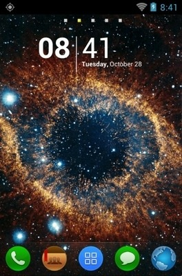 Outer Space Go Launcher Android Theme Image 1