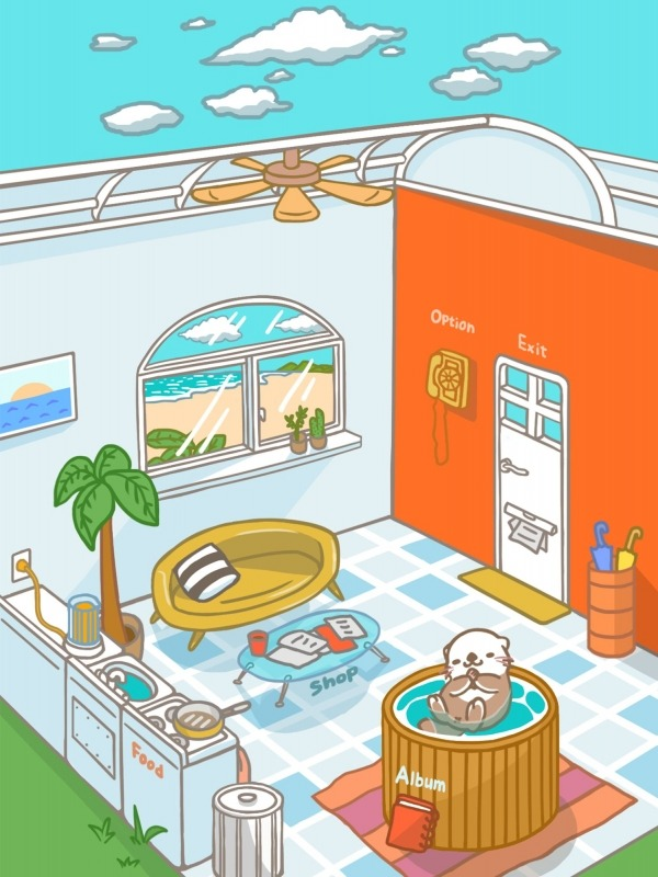 Rakko Ukabe - Let's Call Cute Sea Otters! Android Game Image 1